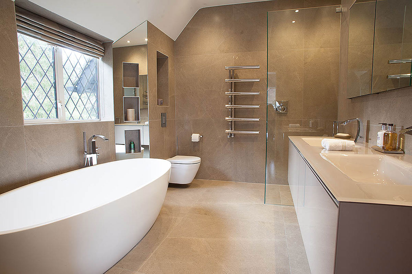 Bathrooms And Bedrooms In A North London Home Tiles Amp Baths Direct