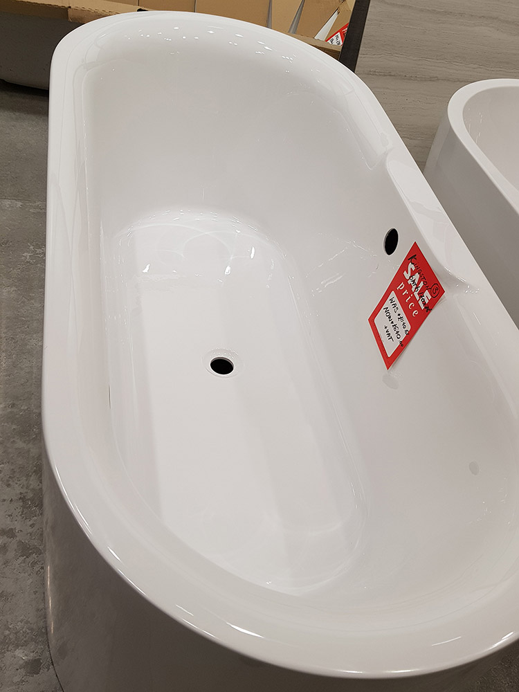 Kingston Free-standing Bath, White