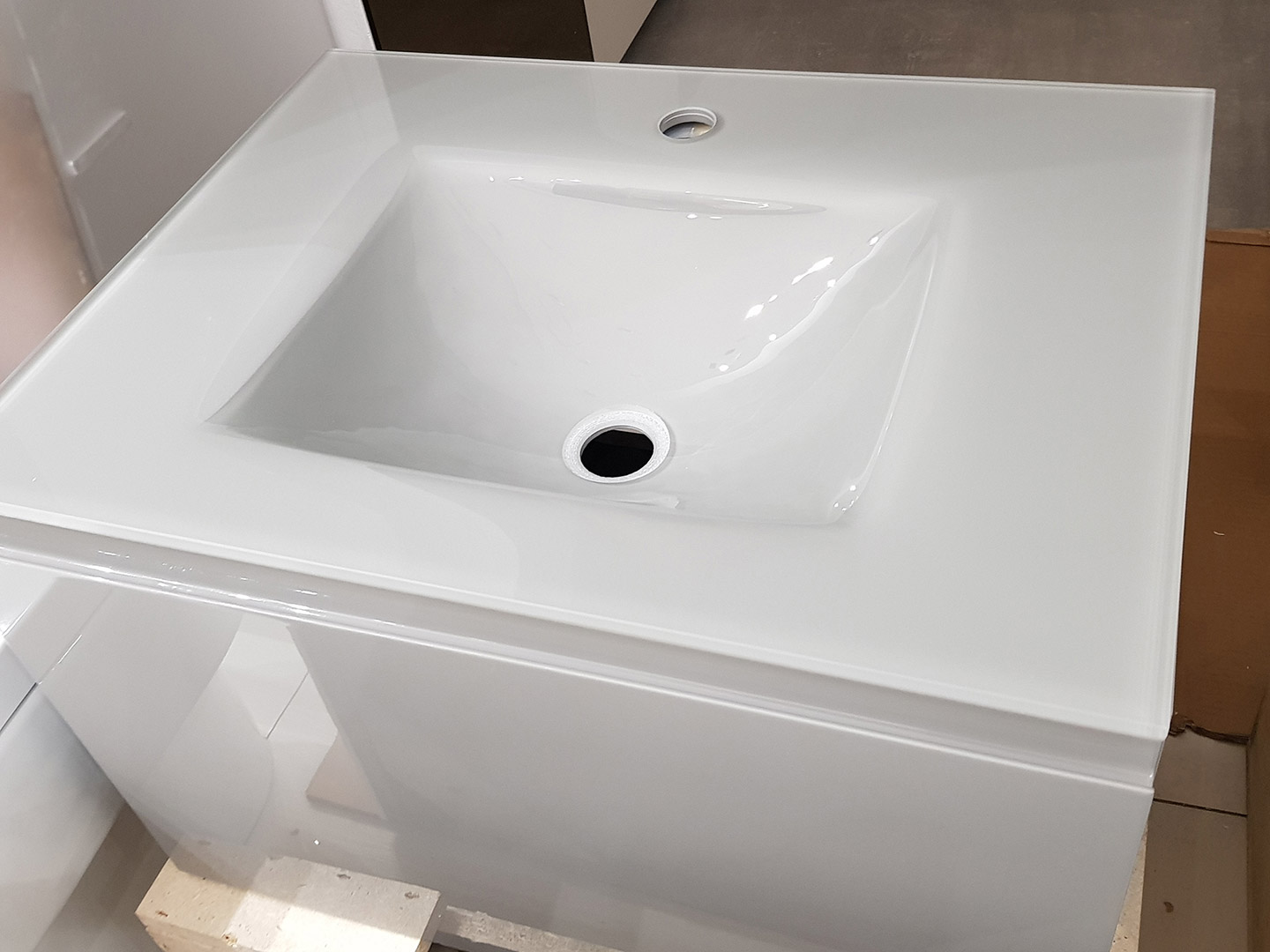 Italian Integrated Vanity Unit With Glass Top Basin Tiles Baths