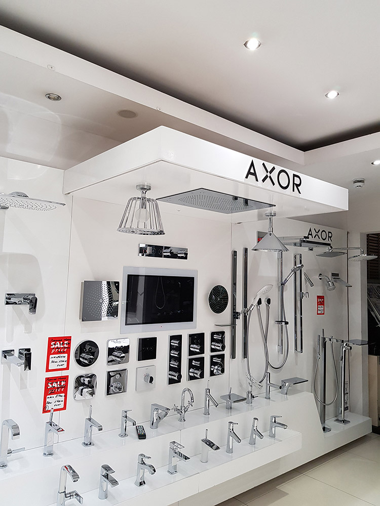 Hans Grohe & Axor Thermostatic Shower Systems, Chrome