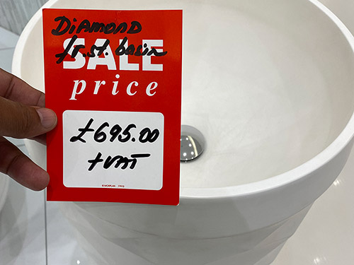 Karol Diamond Freestanding Basin (White) - Just £695 + VAT