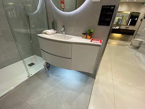Calix 1070 Curved Teknorit Vanity Unit & Basin - was £2,713.00 NOW £695.00 + VAT