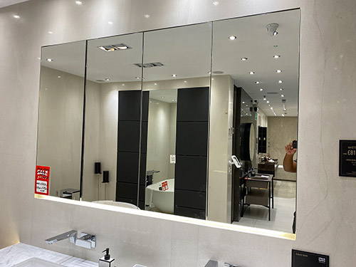 Recessed Mirror Cabinet + Lighting - was £3,224.00 NOW £750.00 + VAT