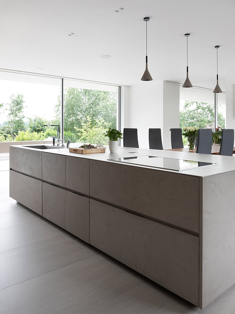 Cesar Cement Effect Kitchen - kitchen island