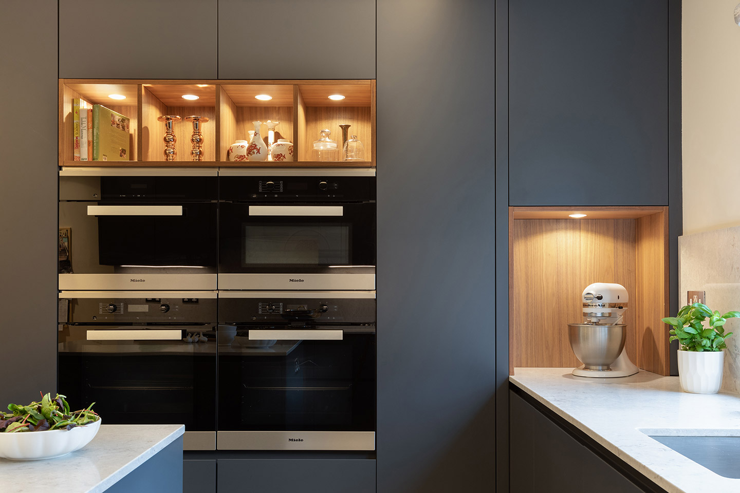 Matt Grey & Walnut Cesar Kitchen