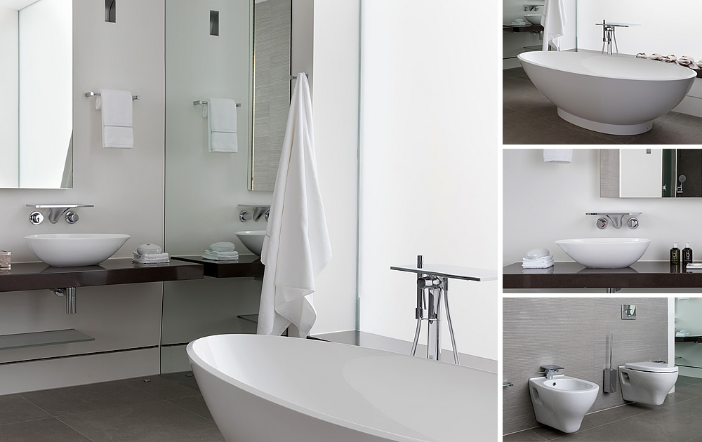 London Pied a Terre Bathroom - This bathroom project was part of a total transformation of a small London ground floor flat into a large spacious super luxury apartment
