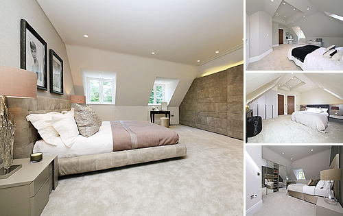 Radlett Hertfordshire Project - Kitchen, Bathrooms, Bedrooms, Porcelain tiles, Wood flooring, Wardrobes and TV Area