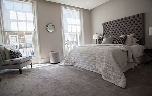 Knightsbridge Townhouse Project  - Completed House:- Bathrooms, Kitchen, Bedrooms & Living Area