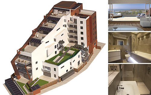 High Specification Bathrooms - Apartments in iconic new build on the South Coast of England with beautiful views